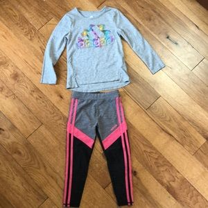 Adidas long sleeve top and leggings set